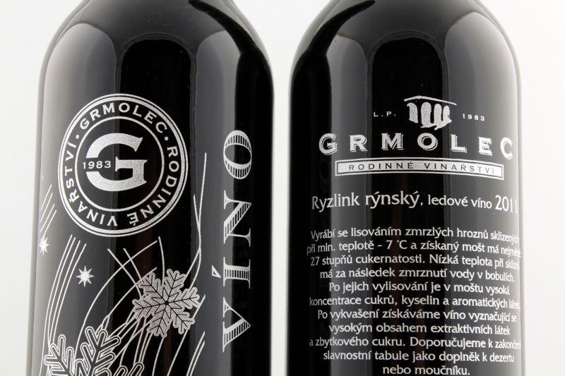 Potisk láhve ledové víno GRMOLEC 2011