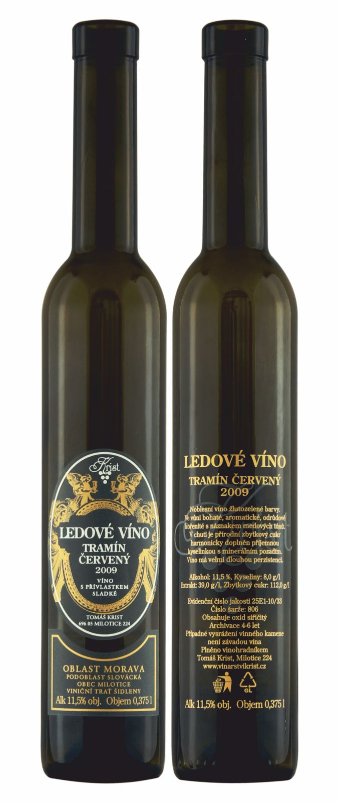 Potisk láhve ledové víno Tomáš Krist