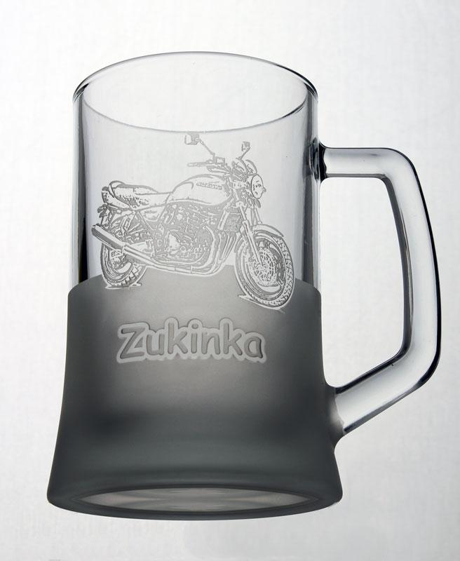 Pískované sklenice s motorkami