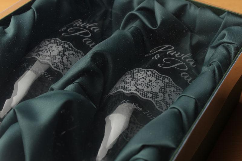 Svatební sklenice s pískováním